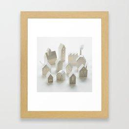 Birdhouse village Framed Art Print