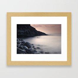 Serenity Ocean At Sunrise. Santiago Beach. La Gomera Island Framed Art Print