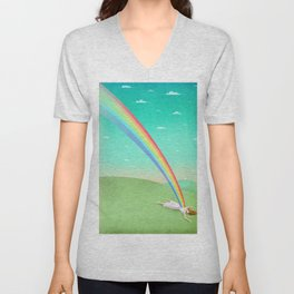 Can you support your dreams? Unisex V-Neck