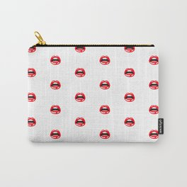 SEXY LIPS ((white)) Carry-All Pouch