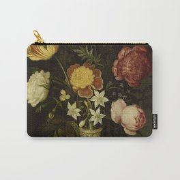 Ambrosius Bosschaert - Still life with flowers in a Wan-Li vase (1619) Carry-All Pouch