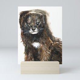 European Mink Mini Art Print