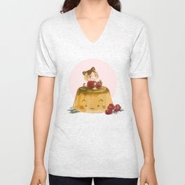 pudding Unisex V-Neck