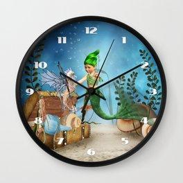 Cute Mermaid 4 Wall Clock