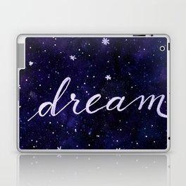 Watercolor galaxy dream - dark blue Laptop & iPad Skin