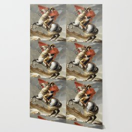Bonaparte Crossing the Alps Wallpaper