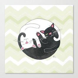 Cat Philosophy Canvas Print