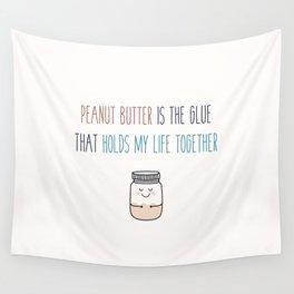 Peanut butter vegan Wall Tapestry