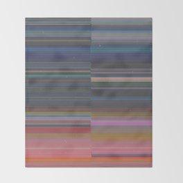 scanner stripes Throw Blanket