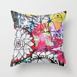 mixed media doodles Throw Pillow
