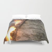 swedish Duvet Covers featuring Swedish fire by ilsephilips