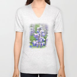 Lupine flower in Iceland Unisex V-Neck