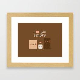 I Love You S'more Framed Art Print