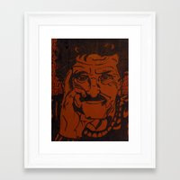 kurt vonnegut Framed Art Prints featuring Kurt Vonnegut, Jr. by Emily Storvold