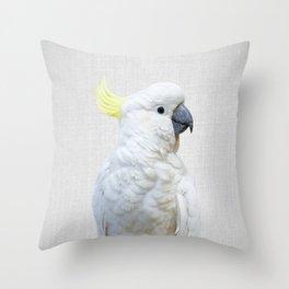 White Cockatoo - Colorful Throw Pillow
