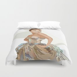 ArianaGrande dress for the Gala Duvet Cover