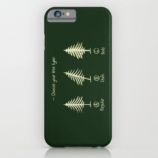 choose your tree type iPhone & iPod Case
