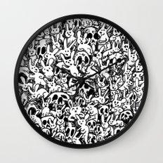 Bunnies & Skulls Wall Clock