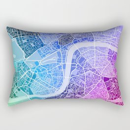 London Map (Colour Gradient) Rectangular Pillow