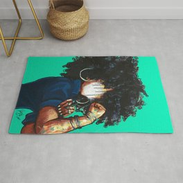 Naturally the Riveter TEAL  Rug