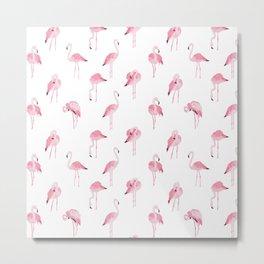 pink flamingo print Metal Print