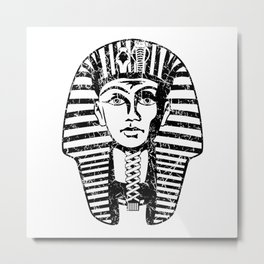 Ancient Egyptian Pharaoh King Tut Metal Print