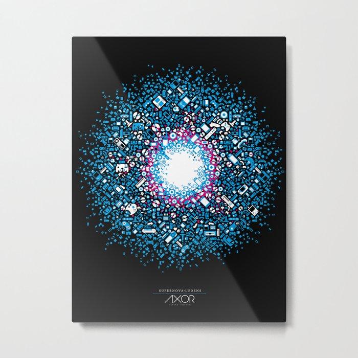 Gaming Supernova - AXOR Gaming Universe Metal Print
