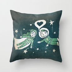 It's a funny story how we met Throw Pillow