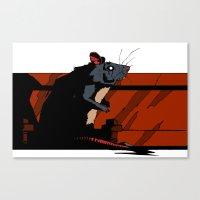 rat Canvas Prints featuring Rat by Alvaro Cubero