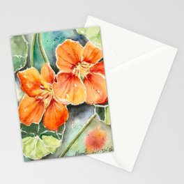Nasturtiums Watercolor Stationery Cards