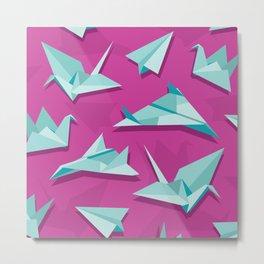 planes and cranes Metal Print