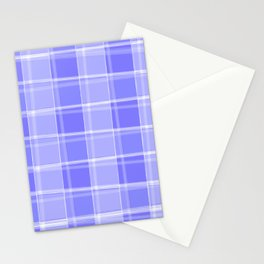 Delicate intersections of light and violet lines on a pastel background. Stationery Cards