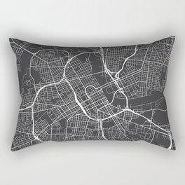 Nashville Map, USA - Gray Rectangular Pillow