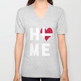Denmark Is My Home Tshirt Unisex V-Neck