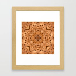 Wooden Wheel of the year of the ring kaleidoscope Framed Art Print