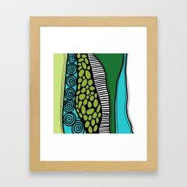 Green Dive -Plongeon vers-textures Framed Art Print