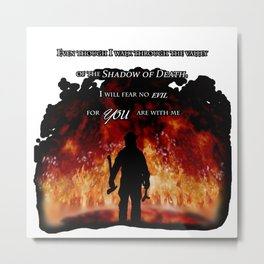 Firefighter Tribute Metal Print