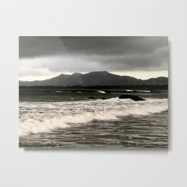 Stormy Sea at First Light Metal Print