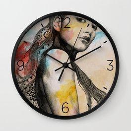 Cleansing Undertones   zentangle nude portrait Wall Clock