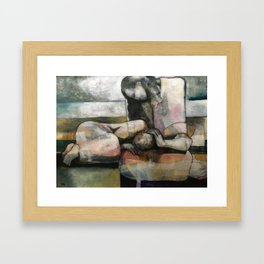 I Will Hold You In The Storm Framed Art Print