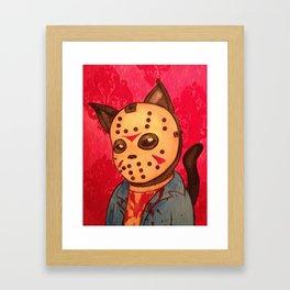 Cathouse Of Horrors Series: Jason Framed Art Print