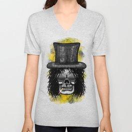Slash style ErrorFace Skull Unisex V-Neck