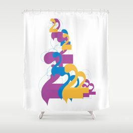 "Alap 28 ""Allap to the 28th Power"" Shower Curtain"