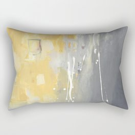 50 Shades of Grey and Yellow Rectangular Pillow
