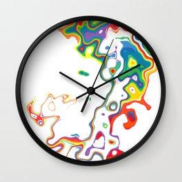 Rainbow Spurt 05 Wall Clock