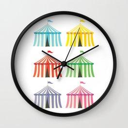 colourful circus tents Wall Clock