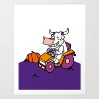The Cow Side of Life Art Print