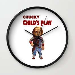 chucky childs play Wall Clock