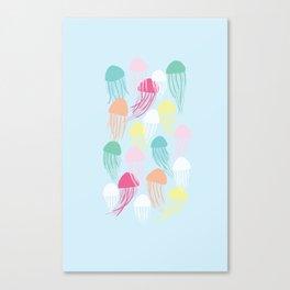 Rainbow Jellies Canvas Print