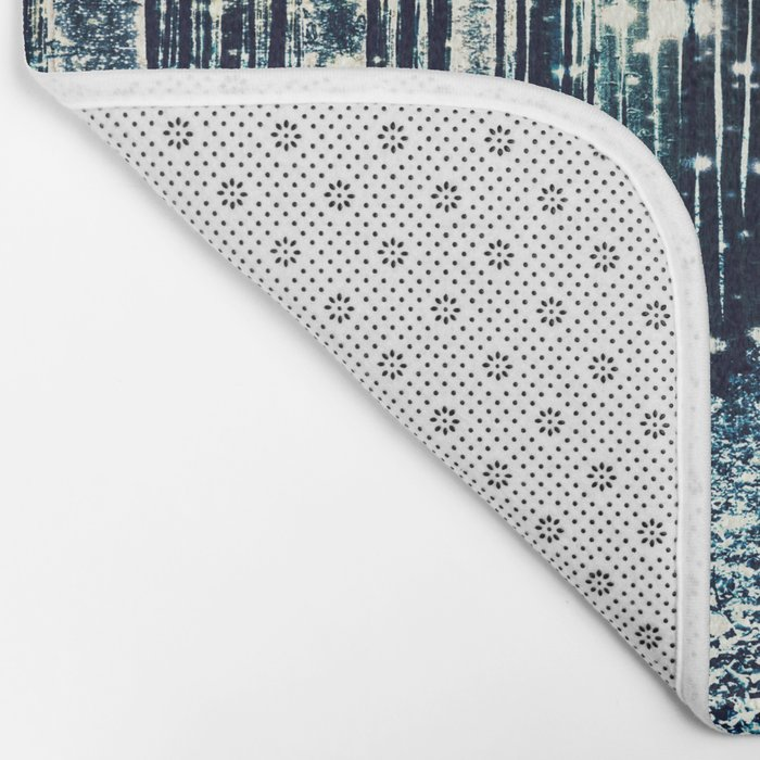 Magical Forest Teal Gray Elegance Bath Mat